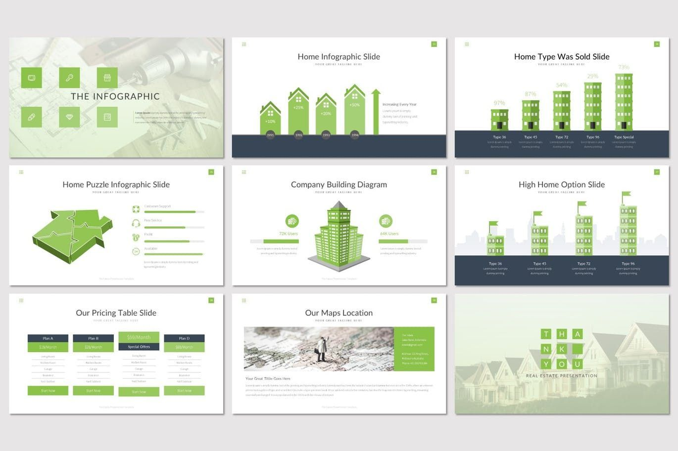 The Estate - PowerPoint Template, Slide 5, 07519, Presentation Templates — PoweredTemplate.com