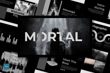 Presentation Templates: Mortal - Keynote Template #07520