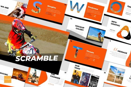 Presentation Templates: Scramble - Google Slides Template #07522