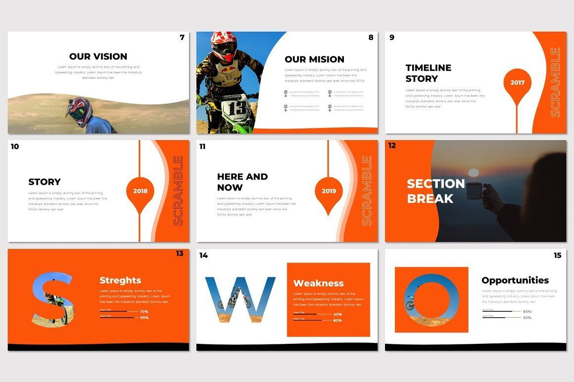 Scramble - Google Slides Template, Slide 3, 07522, Presentation Templates — PoweredTemplate.com
