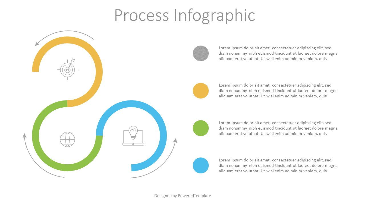 3 Stage Process Infographic, 07526, Process Diagrams — PoweredTemplate.com