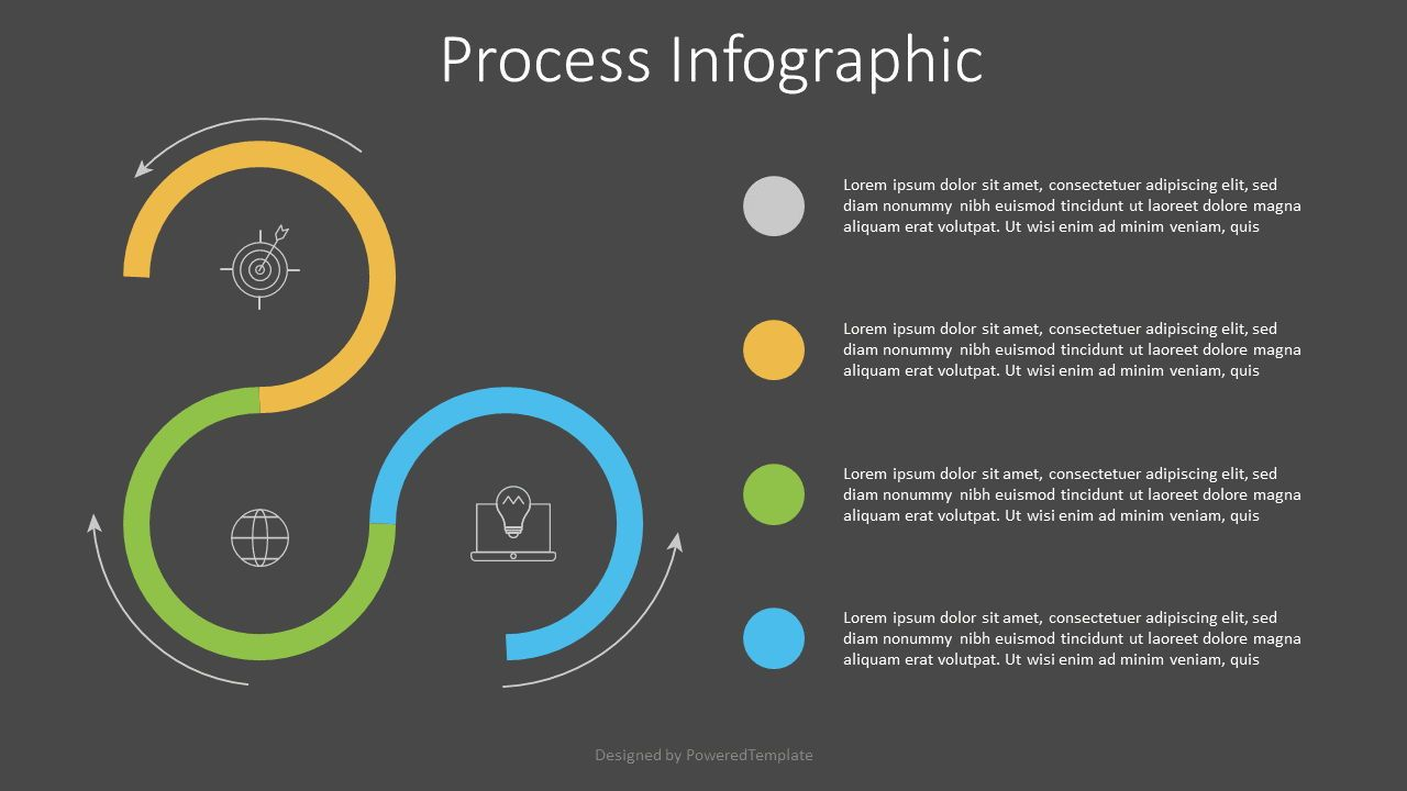3 Stage Process Infographic, Slide 2, 07526, Process Diagrams — PoweredTemplate.com