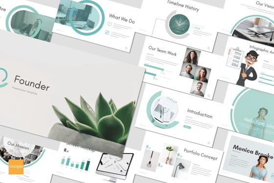 Presentation Templates: Founder - Google Slides Template #07528