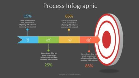 Infographics: Target with Arrow Infographic #07530