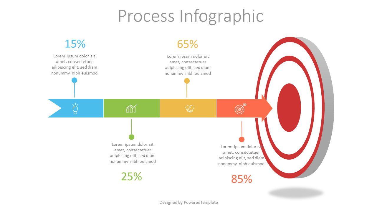 Target with Arrow Infographic, Slide 2, 07530, Infographics — PoweredTemplate.com