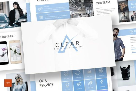 Presentation Templates: Clear - PowerPoint Template #07531