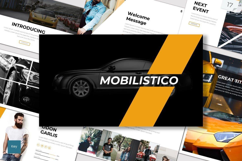 Mobilistico - Keynote Template, 07534, Presentation Templates — PoweredTemplate.com