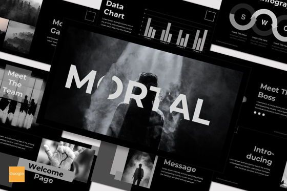Presentation Templates: Mortal - Google Slides Template #07536
