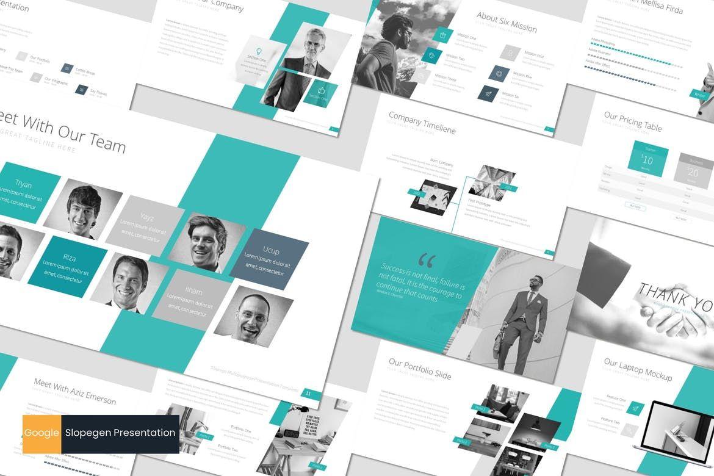 Slopegen - Google Slides Template, 07537, Presentation Templates — PoweredTemplate.com