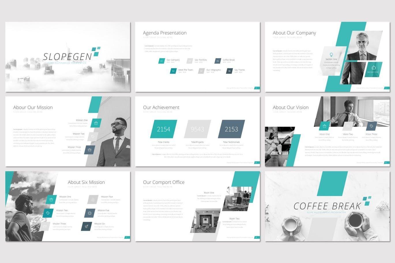 Slopegen - Google Slides Template, Slide 2, 07537, Presentation Templates — PoweredTemplate.com