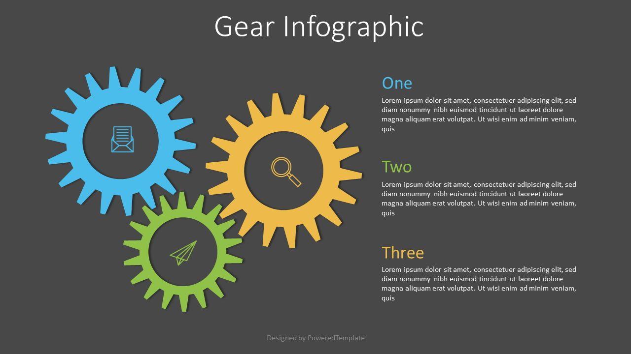 Gear Chain Infographic, 07539, Infographics — PoweredTemplate.com
