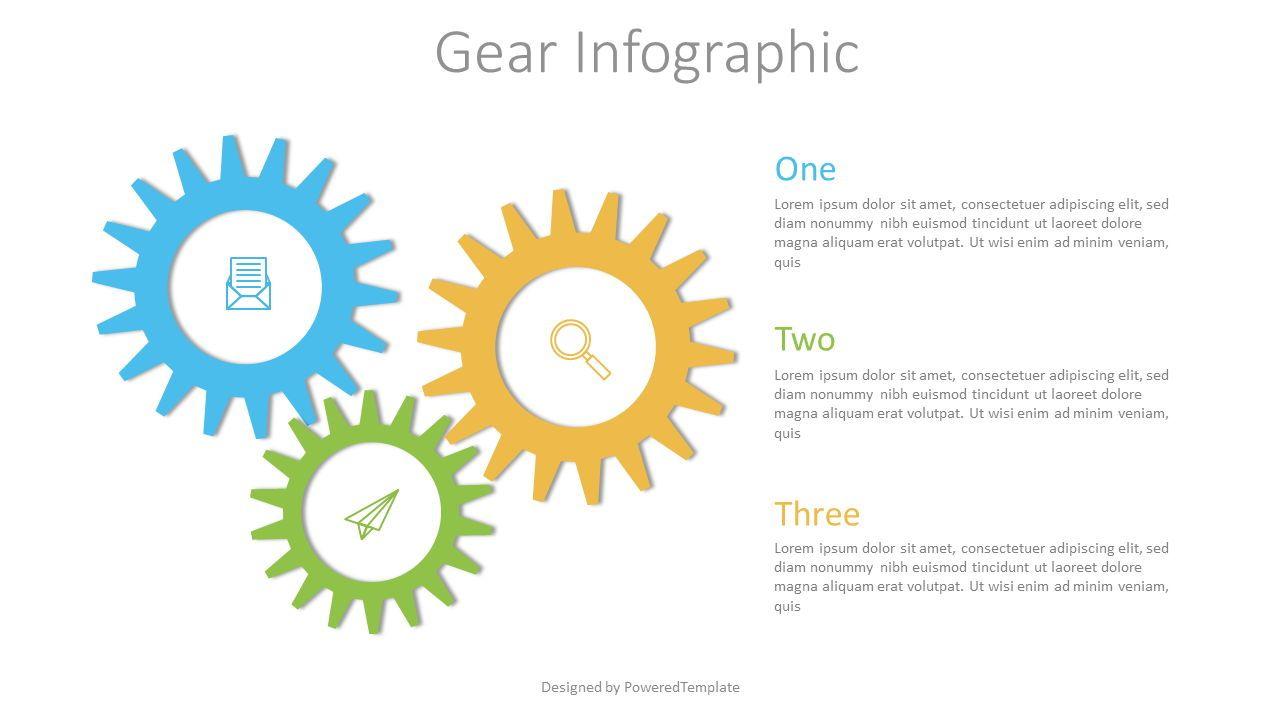 Gear Chain Infographic, Slide 2, 07539, Infographics — PoweredTemplate.com