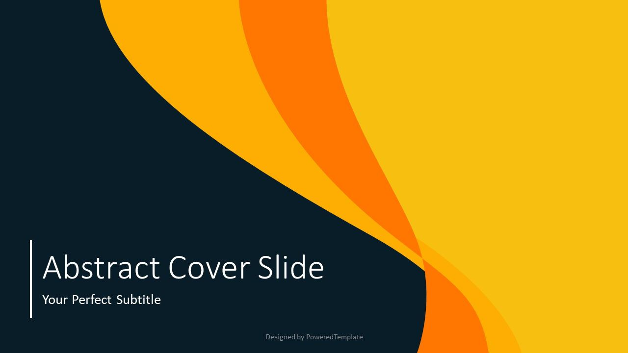 Abstract Curves Cover Slide, 07541, Presentation Templates — PoweredTemplate.com