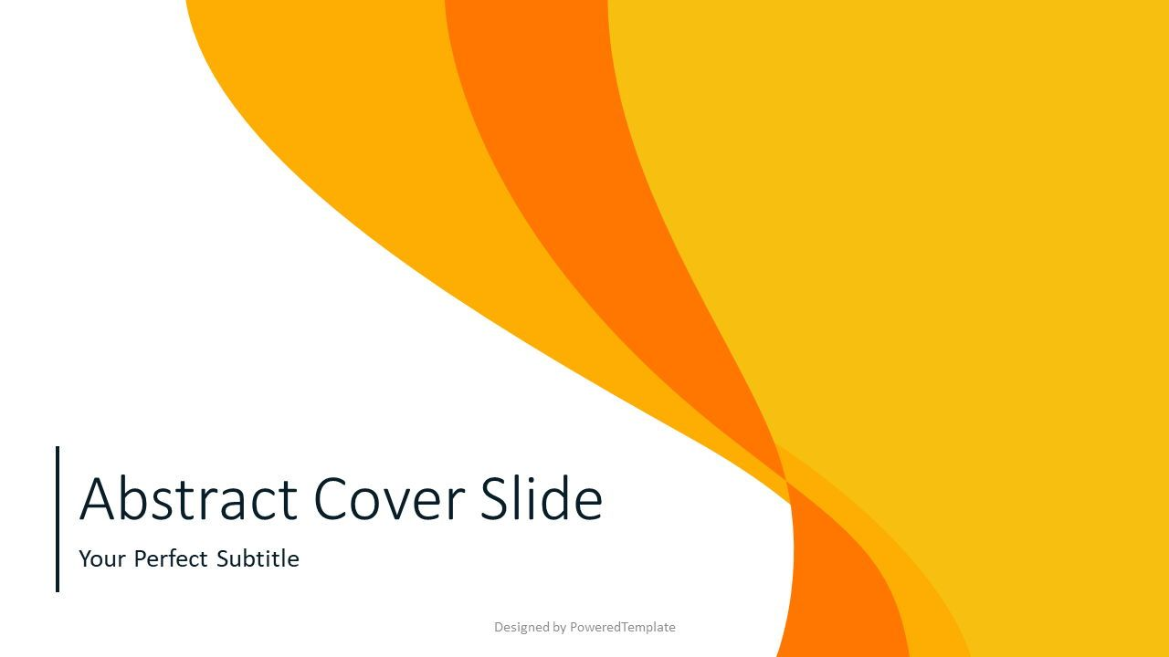 Abstract Curves Cover Slide, Slide 2, 07541, Presentation Templates — PoweredTemplate.com