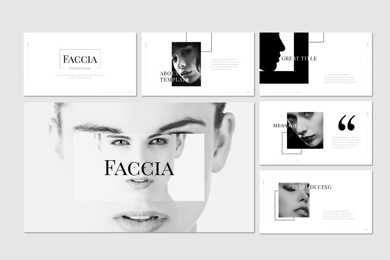 Faccia - PowerPoint Template, Slide 2, 07543, Presentation Templates — PoweredTemplate.com