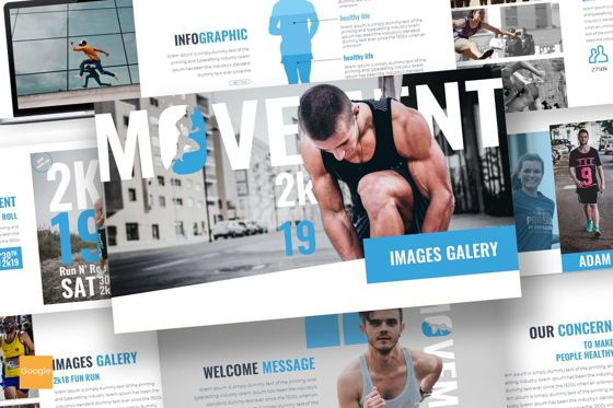 Presentation Templates: Movement - Google Slides Template #07544