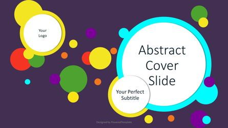 Presentation Templates: Abstract Colorful Circles Cover Slide #07545