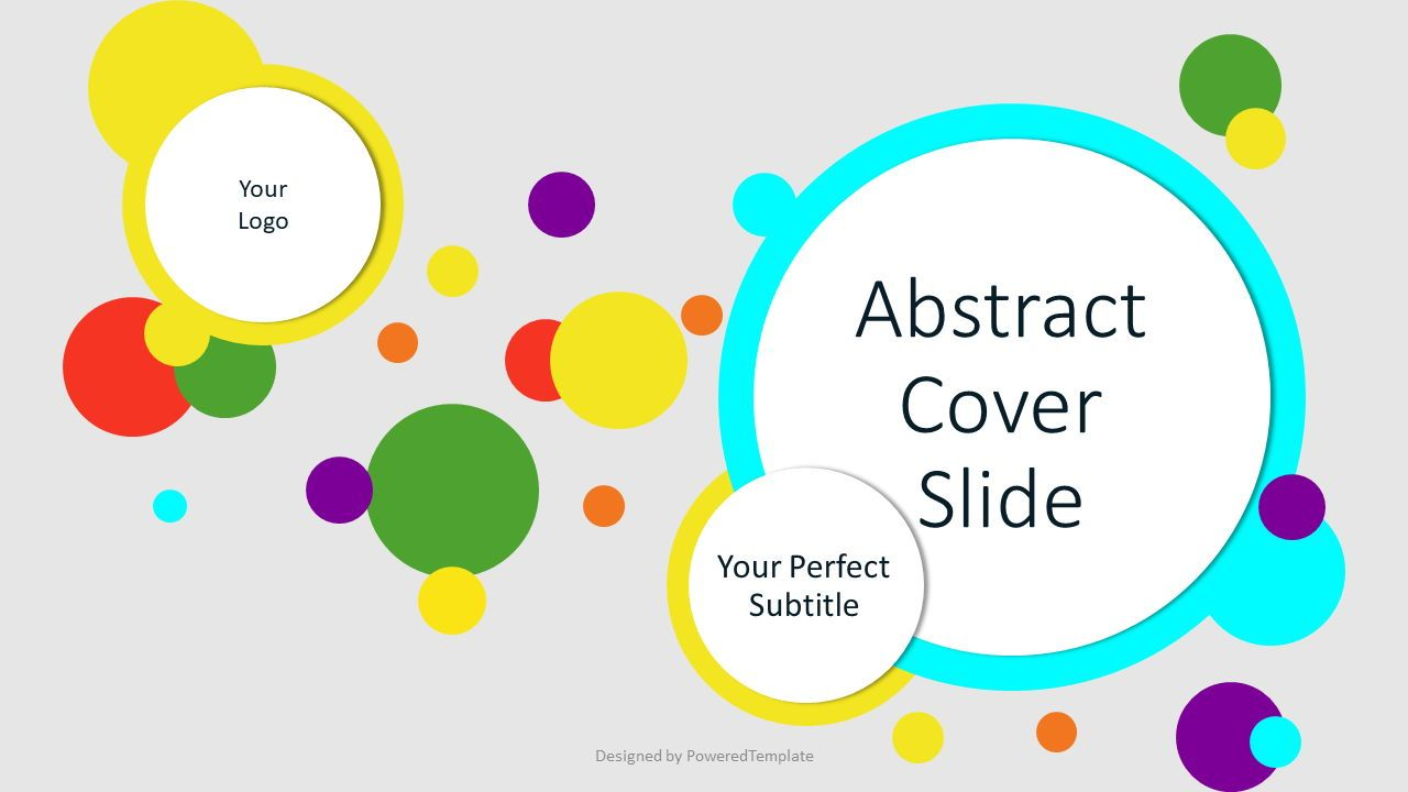 Abstract Colorful Circles Cover Slide, Slide 2, 07545, Presentation Templates — PoweredTemplate.com