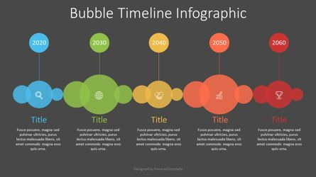 Timelines & Calendars: Bubble Timeline Diagram #07548
