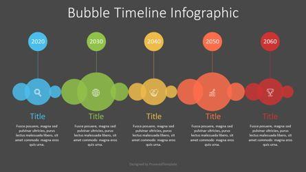 Timelines & Calendars: Bubble Timeline Diagram #07548