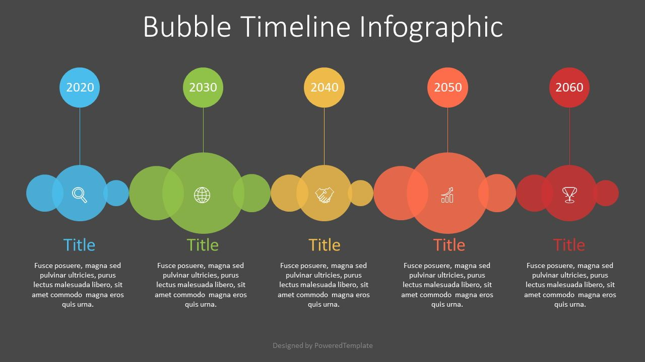 Bubble Timeline Diagram, 07548, Timelines & Calendars — PoweredTemplate.com