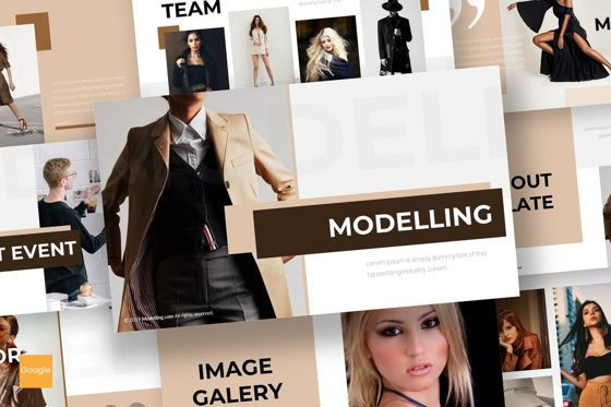 Presentation Templates: Modelling - Google Slides Template #07549