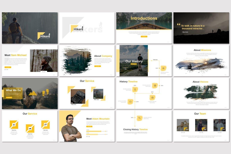 Hikers - Google Slides Template, Slide 2, 07551, Presentation Templates — PoweredTemplate.com