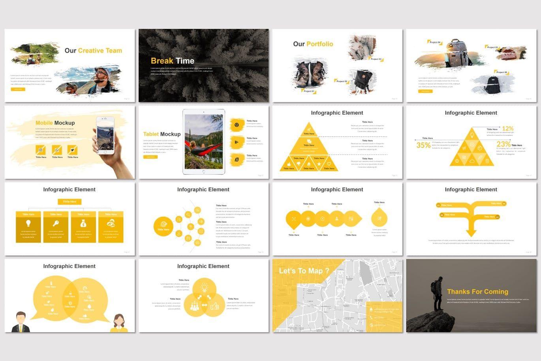 Hikers - Google Slides Template, Slide 3, 07551, Presentation Templates — PoweredTemplate.com
