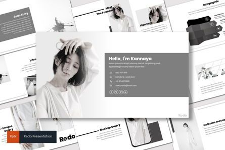 Presentation Templates: Redo - PowerPoint Template #07554