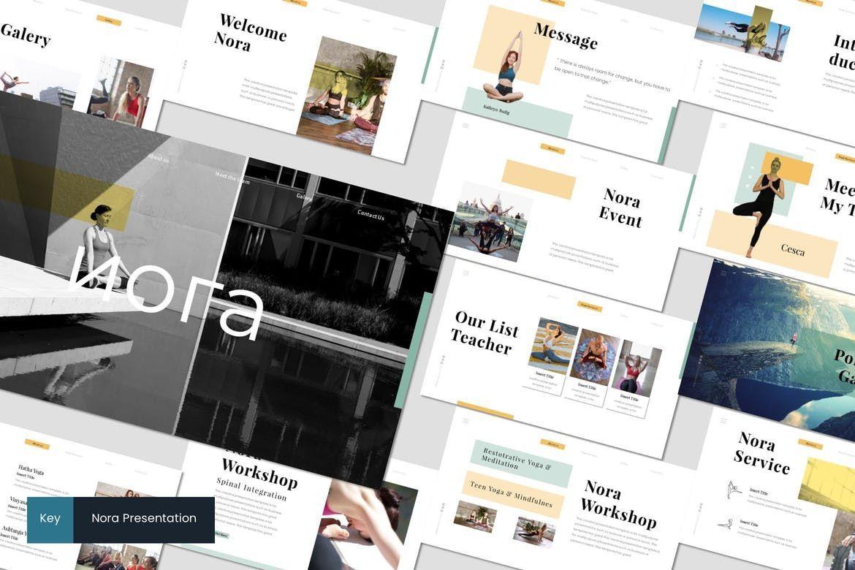 Nora 2 - Keynote Template, 07555, Presentation Templates — PoweredTemplate.com