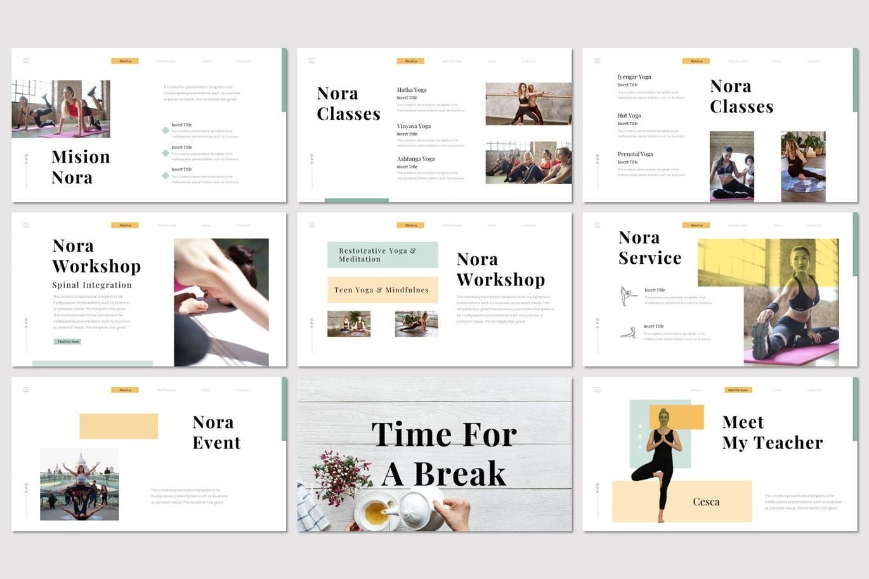 Nora 2 - Keynote Template, Slide 3, 07555, Presentation Templates — PoweredTemplate.com