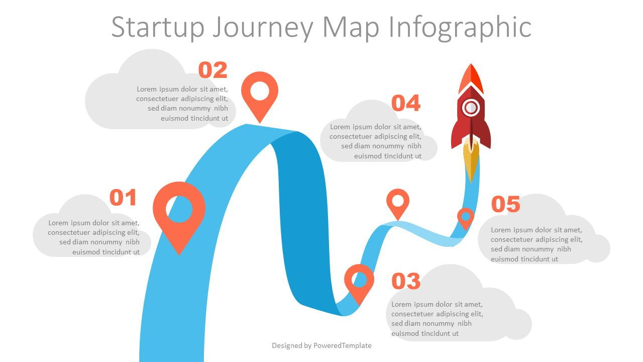 Startup Journey Map Infographic, 07557, Infographics — PoweredTemplate.com