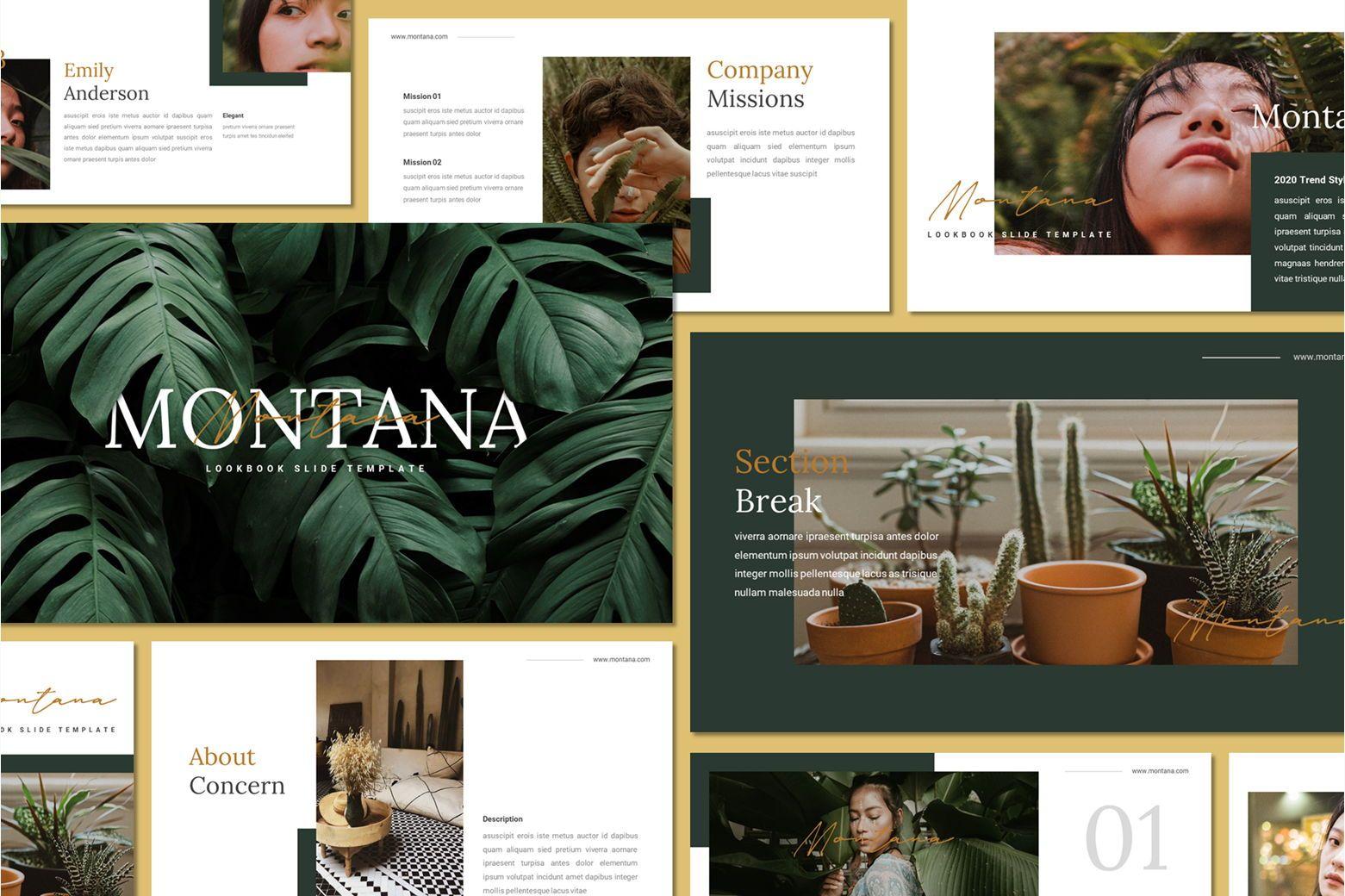Montana - Google Slides Template, 07562, Presentation Templates — PoweredTemplate.com