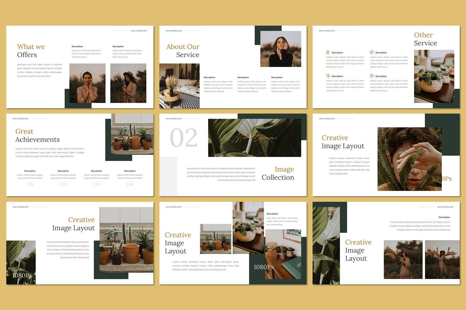 Montana - Google Slides Template, Slide 10, 07562, Presentation Templates — PoweredTemplate.com