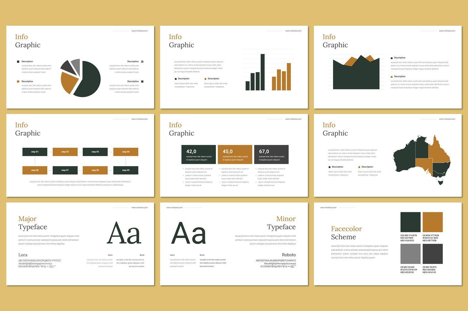 Montana - Google Slides Template, Slide 12, 07562, Presentation Templates — PoweredTemplate.com