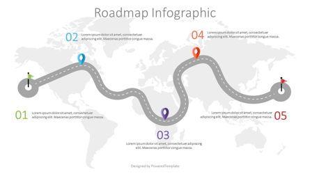 Presentation Templates: Road with Milestones Infographic #07563