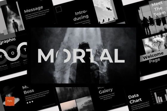 Presentation Templates: Mortal - PowerPoint Template #07564