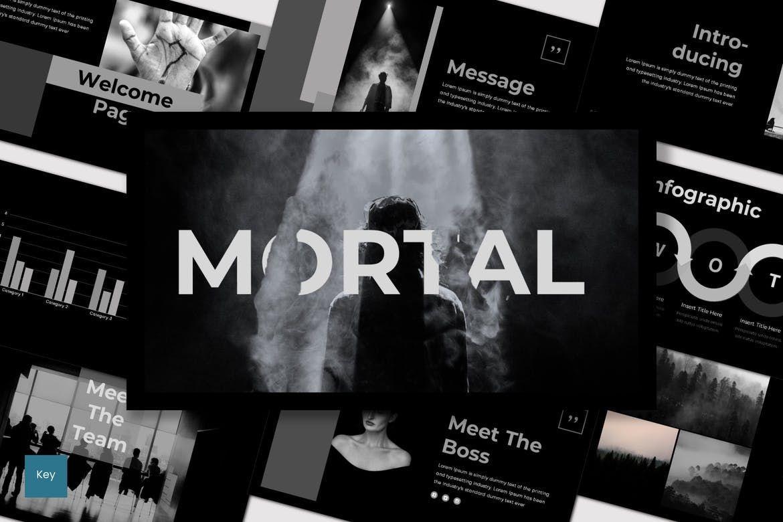 Mortal - PowerPoint Template, Slide 3, 07564, Presentation Templates — PoweredTemplate.com