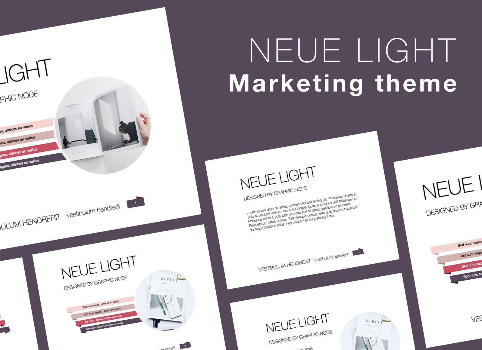 Neue Light Keynote Presentation Template, 07572, Presentation Templates — PoweredTemplate.com