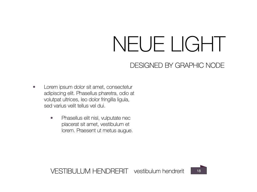 Neue Light Keynote Presentation Template, Slide 11, 07572, Presentation Templates — PoweredTemplate.com