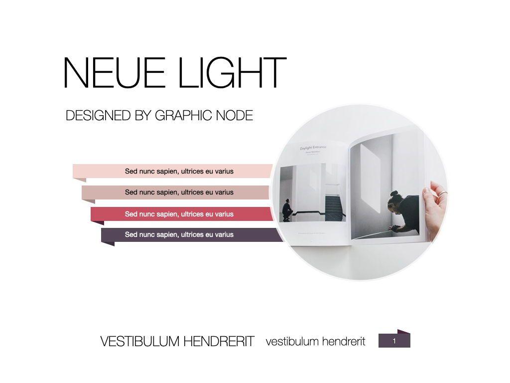 Neue Light Keynote Presentation Template, Slide 12, 07572, Presentation Templates — PoweredTemplate.com