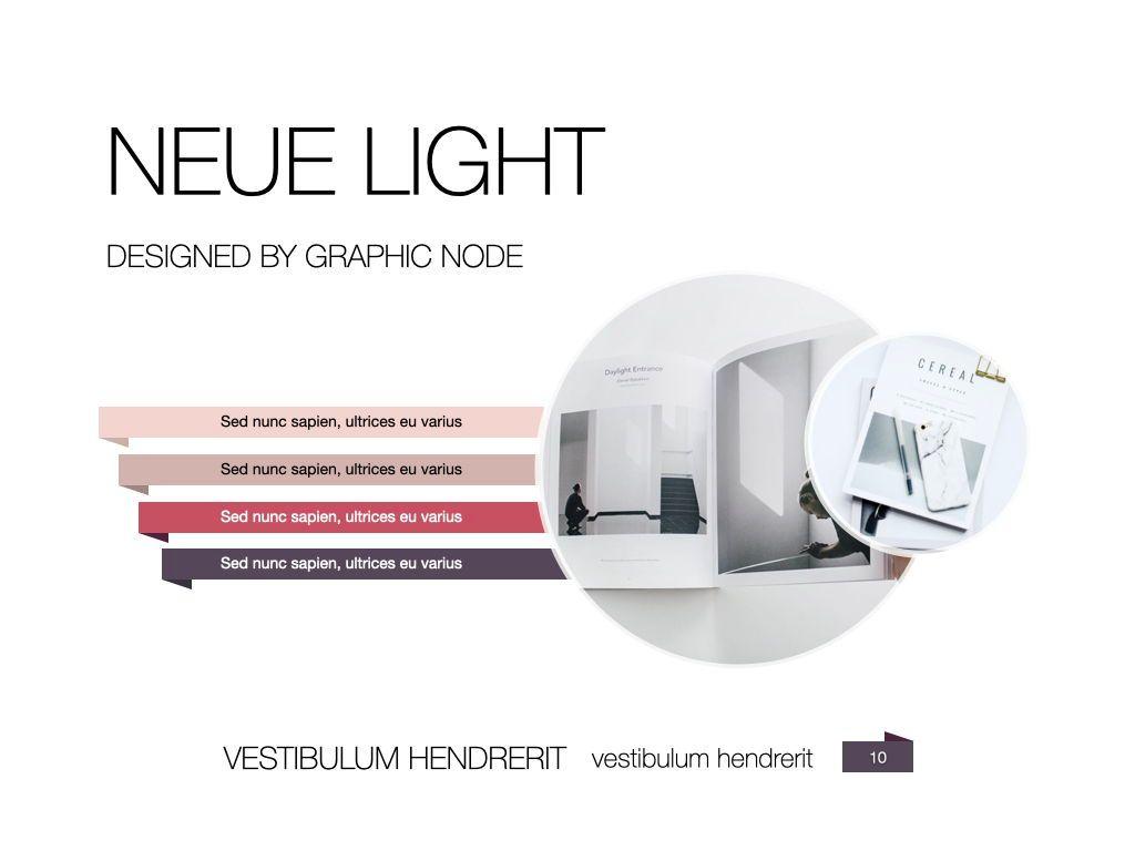 Neue Light Keynote Presentation Template, Slide 3, 07572, Presentation Templates — PoweredTemplate.com