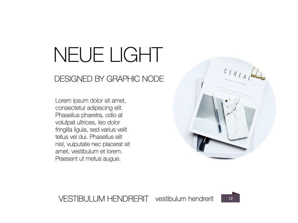 Neue Light Keynote Presentation Template, Slide 5, 07572, Presentation Templates — PoweredTemplate.com