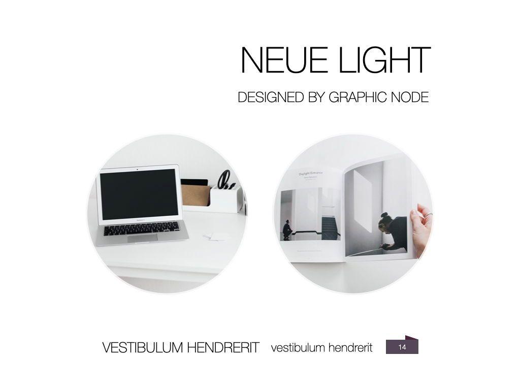Neue Light Keynote Presentation Template, Slide 7, 07572, Presentation Templates — PoweredTemplate.com