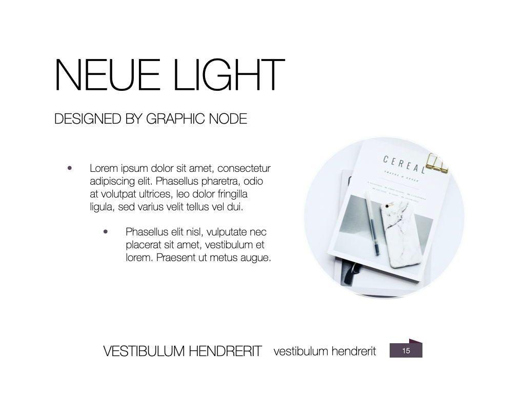 Neue Light Keynote Presentation Template, Slide 8, 07572, Presentation Templates — PoweredTemplate.com