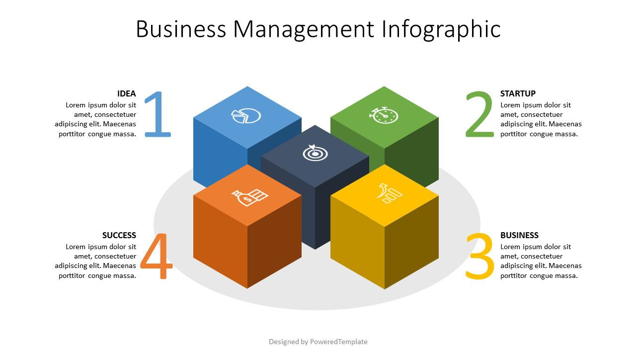 Business Infographics Cube, Slide 2, 07573, Infographics — PoweredTemplate.com