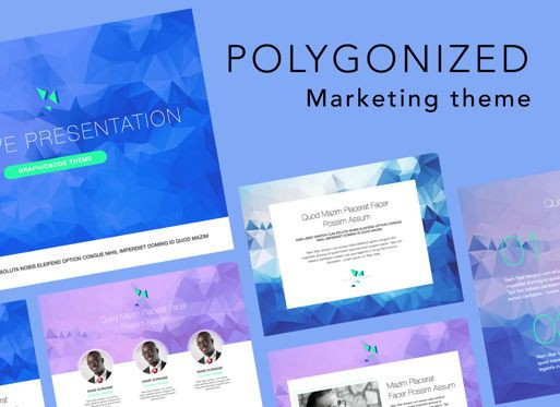 Presentation Templates: Polygonized Keynote Presentation Template #07574
