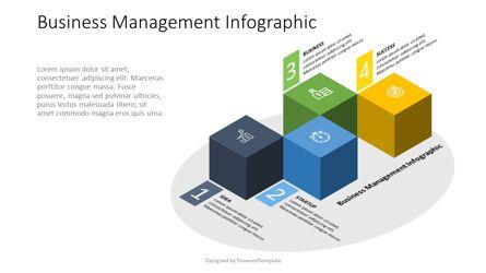 Infographics: 4 Isometric Cube Infographic #07575