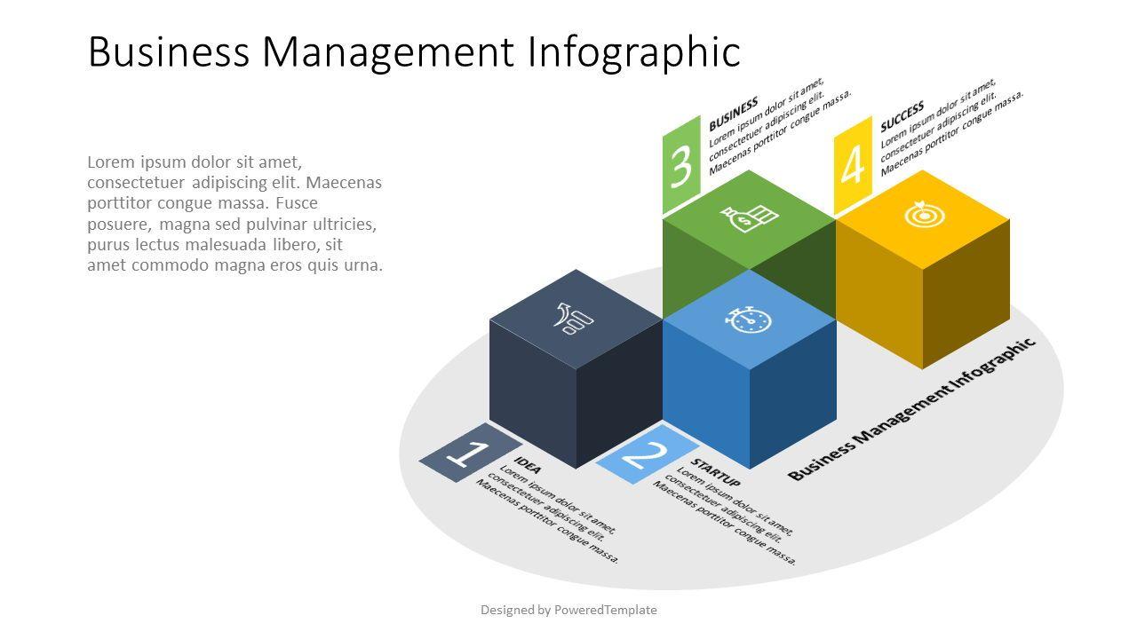 4 Isometric Cube Infographic, 07575, Infographics — PoweredTemplate.com