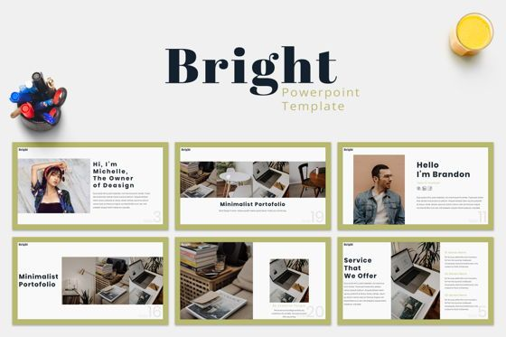 Presentation Templates: Bright - Powerpoint Template #07577